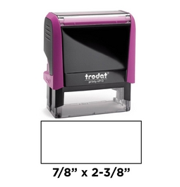 Trodat 4913 pink self-inking stamp is a custom self-inking stamp. High quality plastic deliver a perfect impression.