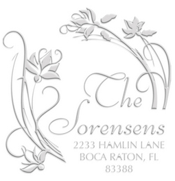 Amaryllis Address paper embossing seal, style CE-50026. Choose from pocket or desk style. Makes a great gift.