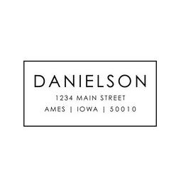 The Danielson return address stamp is a great and unique way to stamp your return address. Choose from self-inking stamp or traditional rubber stamp.