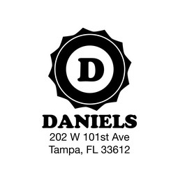 The Daniels return address stamp is a great and unique way to stamp your return address. Choose between a self-inking stamp or a traditional rubber stamp.