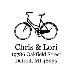The Bicycle return address stamp is a great and unique way to stamp your return address. Choose between a self-inking stamp or a traditional rubber stamp.
