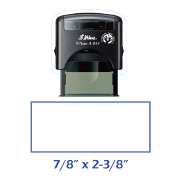 Shiny A-844 NTBac self-inking stamp. This stamp has been treated with a fungistatic agent that protects the product from fungal growth as well as restricts the growth and action of bacterial odors.
