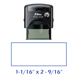 Shiny A-846 NTBac self-inking stamp. This stamp has been treated with a fungistatic agent that protects the product from fungal growth as well as restricts the growth and action of bacterial odors.